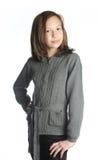 Brunette girl isolated Stock Photo