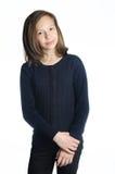 Brunette girl isolated Stock Photos