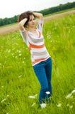 Brunette girl portrait Stock Images