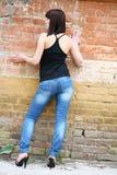 Brunette girl posing Royalty Free Stock Photo