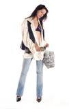 Brunette girl posing Royalty Free Stock Image
