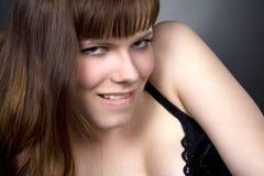 Brunette girl posing in studio Stock Photo