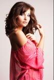 Brunette girl posing in studio Royalty Free Stock Images