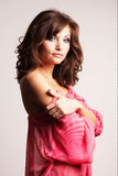 Brunette girl posing in studio Royalty Free Stock Photos