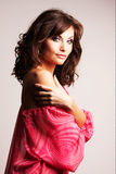 Brunette girl posing in studio Stock Photography