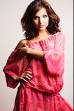 Brunette girl posing in studio Royalty Free Stock Photography