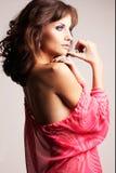 Brunette girl posing in studio Stock Images