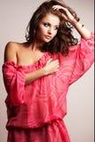 Brunette girl posing in studio Stock Image