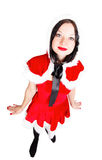 Brunette girl is ready for Christmas Royalty Free Stock Image
