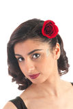 Brunette girl with rose Royalty Free Stock Photos