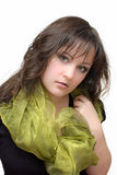 Brunette girl in a scarf Stock Photo