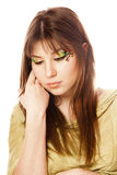 Brunette girl with style make-up. Stock Photography