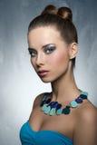 Brunette girl with stylish make-up Royalty Free Stock Image