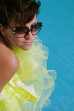 Brunette girl with sunglass Royalty Free Stock Images