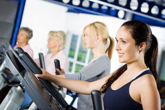 Brunette girl working out Royalty Free Stock Photo