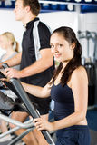 Brunette girl working out Royalty Free Stock Photos