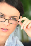 Brunette with glasses Royalty Free Stock Photography