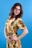 Brunette with glasses Stock Photography