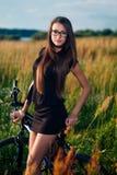 Brunette in glasses Royalty Free Stock Image