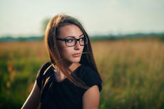 Brunette in glasses Royalty Free Stock Photo