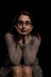 Brunette with glasses Royalty Free Stock Image