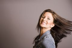 Brunette Hair royalty free stock photo