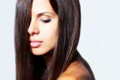 Brunette hair woman Stock Photo