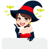 Brunette Halloween Witch Royalty Free Stock Photos
