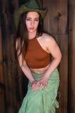 Brunette in halter and skirt Stock Images