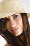 Brunette with hat Stock Photo