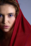 Brunette in headscarf Royalty Free Stock Photography