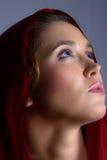Brunette in headscarf Stock Photo