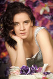 Brunette hermoso Foto de archivo libre de regalías