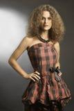 Brunette hermoso de la mujer elegante de la manera Imágenes de archivo libres de regalías