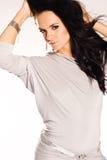Brunette hermoso y atractivo Fotos de archivo