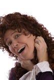 brunette heureux Images stock
