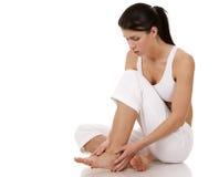 Feet pain stock image