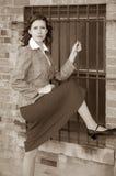 Brunette hottie Royalty Free Stock Photo