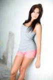 Brunette hottie posing for the camera Stock Image