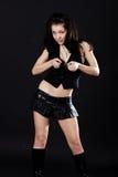 Brunette In Mini Skirt Royalty Free Stock Images