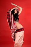Brunette in the Indian sari Stock Photo