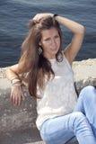 Brunette joven Imagen de archivo