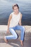 Brunette joven Foto de archivo
