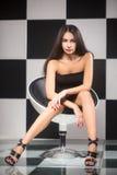 Brunette joven atractivo imagen de archivo