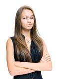 Brunette joven confidente magnífico. Foto de archivo libre de regalías