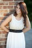 Brunette joven feliz Fotos de archivo