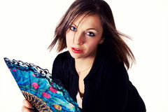 Brunette joven hermoso imagen de archivo libre de regalías