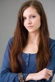 Brunette joven hermoso. Imágenes de archivo libres de regalías