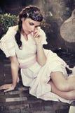 Brunette joven lindo Fotografía de archivo libre de regalías