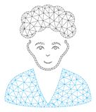 Brunette Jungen-polygonaler Rahmen-Vektor Mesh Illustration vektor abbildung